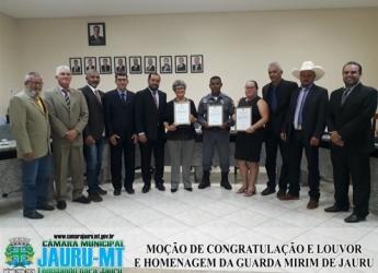 Moção de Congratulação e Louvor e Homenagem da Guarda Mirim