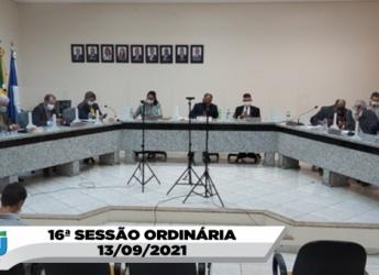 16ª SESSÃO ORDINÁRIA 13/09/2021