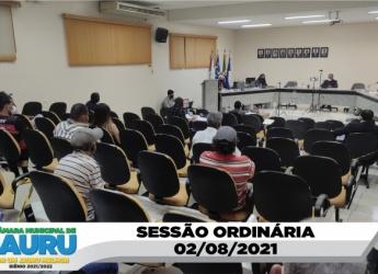 SESSÃO ORDINÁRIA 02/08/2021